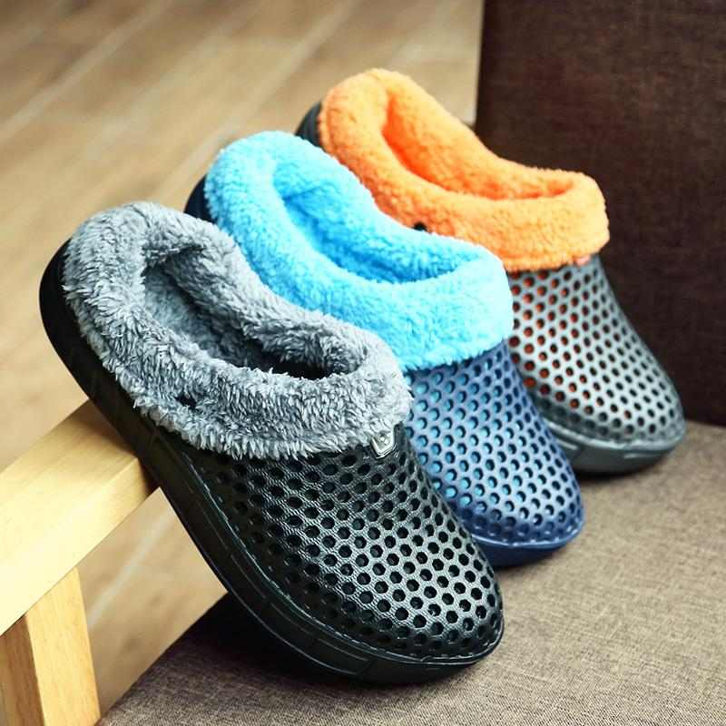 8de0b6db417 House Slippers for Men Indoor Slipper with Warm Fully Fur Lined ...