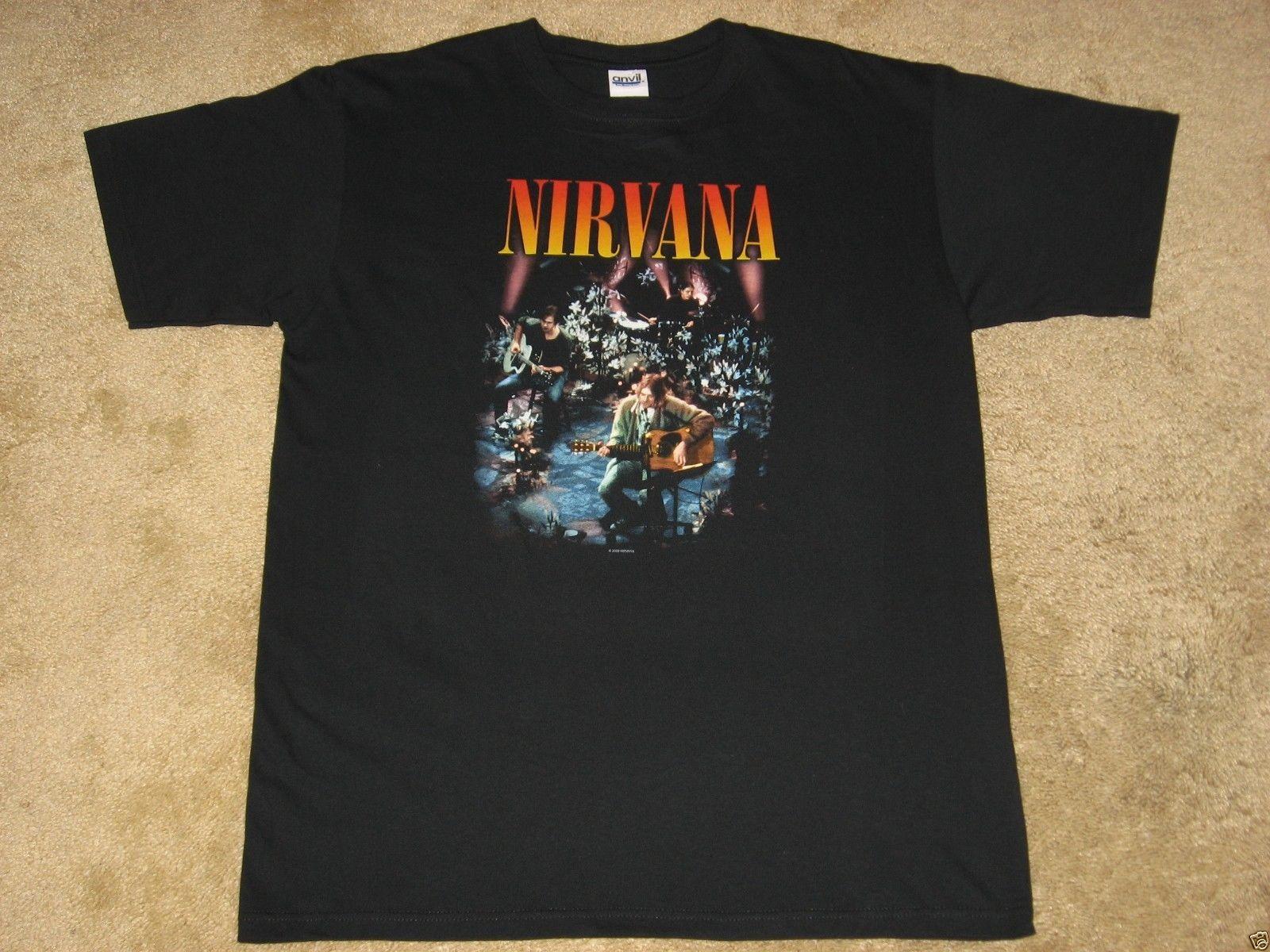 0600cf00 Nirvana Live Concert Photo S 3XL Black T Shirt Quality Print New Summer Style  Cotton That T Shirt But T Shirts From No1tees43, $11.58| DHgate.Com