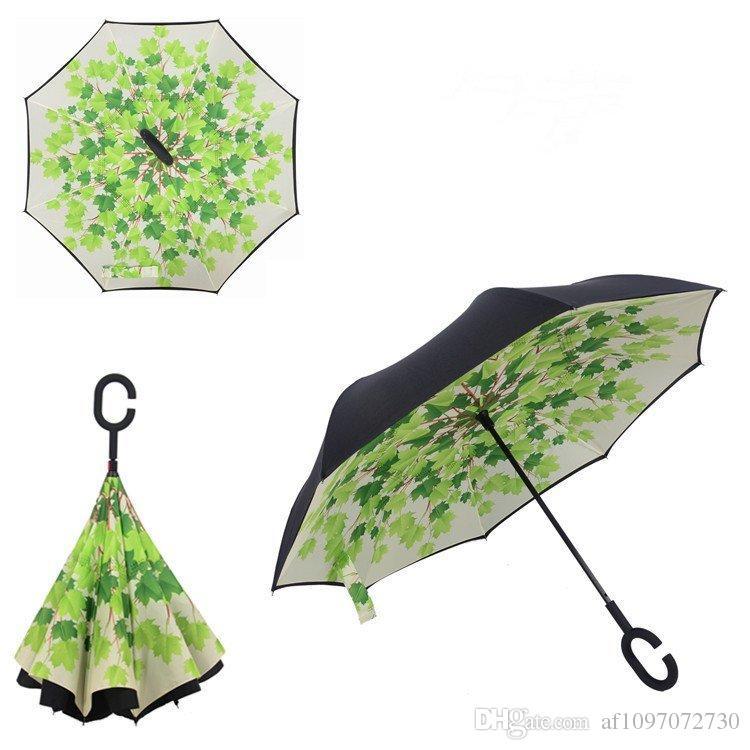 Antivento Reverse Umbrella il nuovo disegno i Double Layer invertito Ombrelli C Ombrelli maniglia auto stampabile marchio del cliente