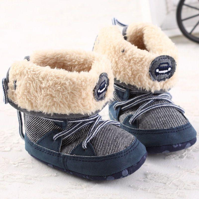 6858f3e16d81c Acheter 0 18 M Bébé Garçon D hiver Chaud Neige Bottes À Lacets Semelle  Souple Enfants Infant Toddler Nouveau Né Chaussures De  30.25 Du Mobiletoys