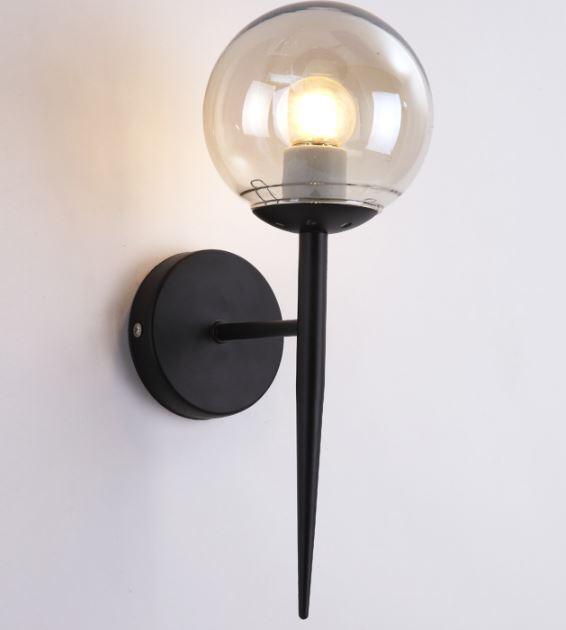 Acheter Applique Murale Moderne Boule De Verre Appliques Murales Chambre  Lampe De Chevet Salon Salle À Manger Couloir Luminaires Luminaires Lampe De  Poche ...