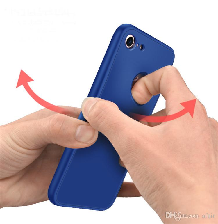 360-Grad-Abdeckung voller Körper-weicher TPU-Handy-Fall für iPhone X 8 7 6 6S plus schützende stoßsichere Anti-Shock ultra dünne Fall-Abdeckung