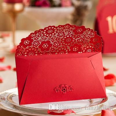 Cartão romântico Envelopes para o Casamento, Festa de casamento Favor Saco de Presente de Dinheiro Envelope Saco de Qualidade Superior Pacotes Vermelhos frete grátis