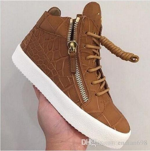 0e599954c72d 2018 New Luxury Design Zanots Genuine Leather High Top Shoes ...