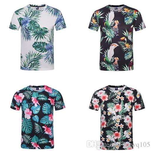Summer New Style Floral T Shirt Men Women Lovers Funny 3d Printing