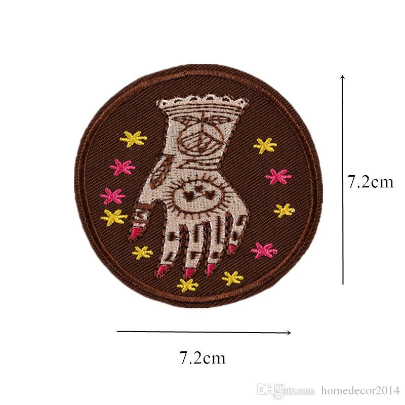 Embroidered Hand Patches Sewing Iron On Creative Badge For Bag Jeans Hat Appliques DIY Handwork Sticker Decoration Apparel Accessorie
