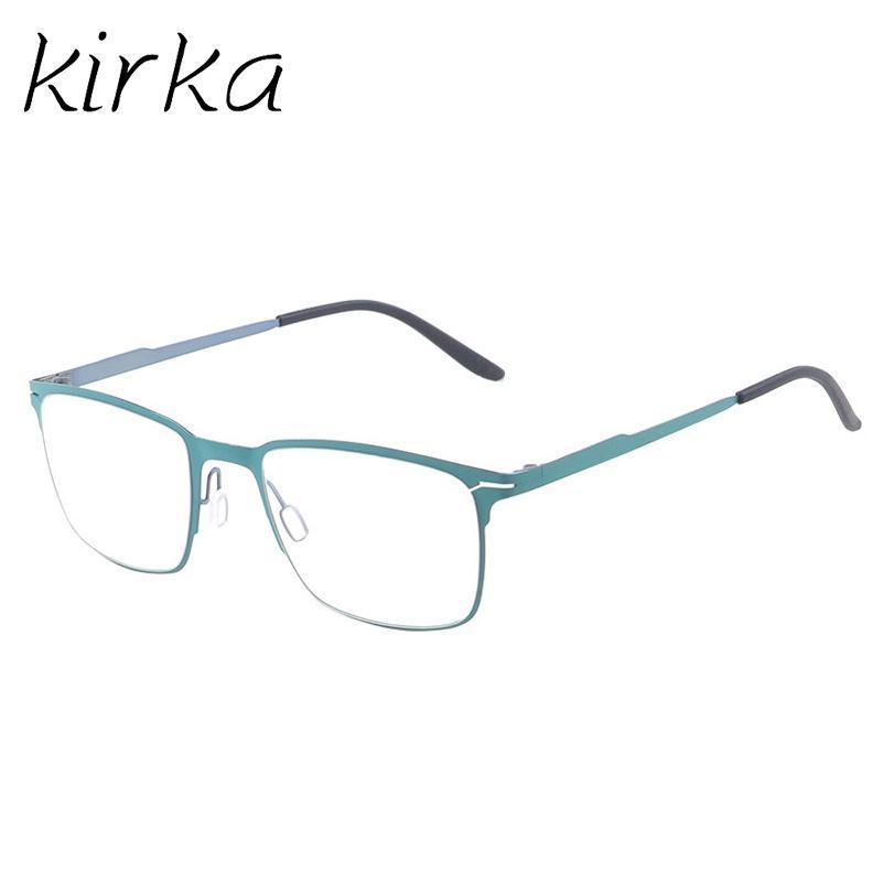 Compre Kirka Metal Big Frame Gafas Verdes Gafas Con Estilo Gafas De ...