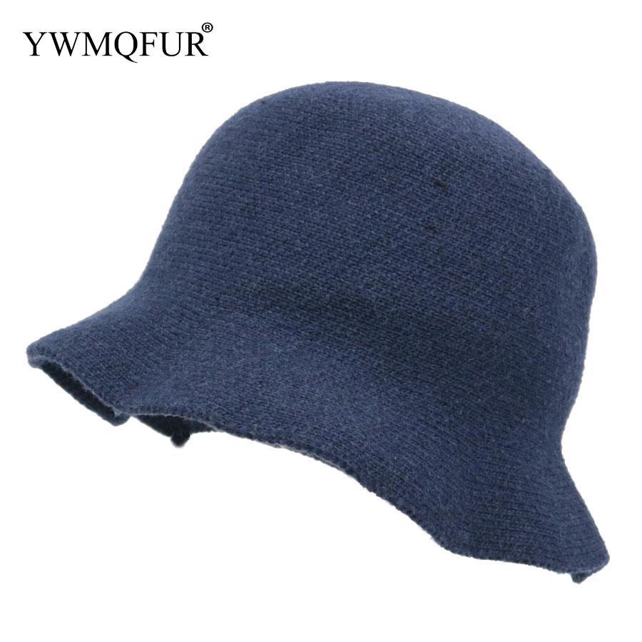 943d013f7d9 YWMQFUR 2018 Spring   Autumn Bucket Hats Solid Color Cotton Large ...
