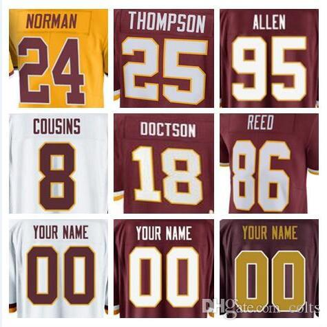 c95d9ede152 2018 Washington Kirk Cousins Redskins Jersey Sean Taylor Alex Smith Josh  Norman Ryan Kerrigan Terrelle Pryor Sr American Football Jerseys Sports  From ...