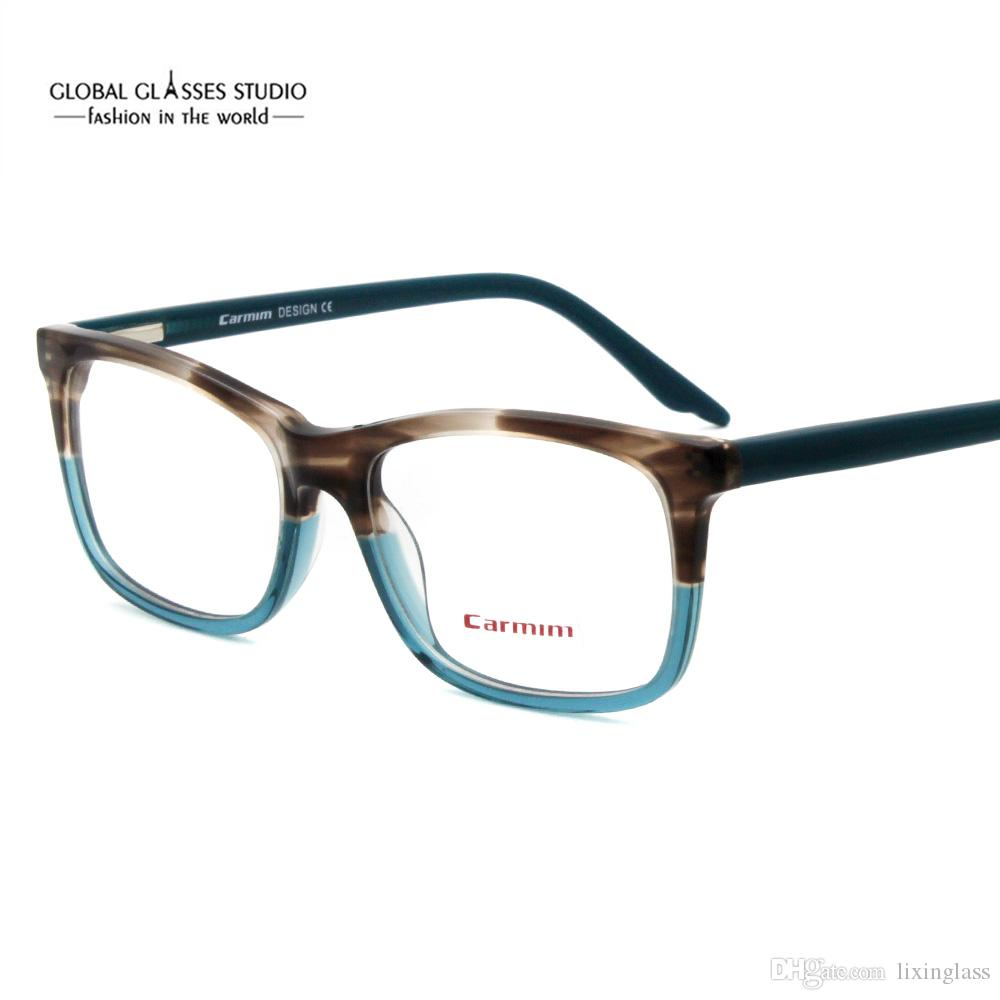 8211a52d109 New Fashion Italy Design Glasses For Women Men Blue Brown Acetate ...