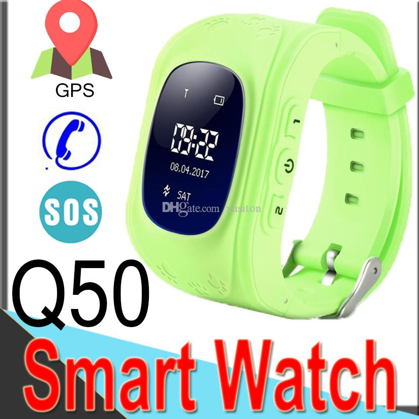 Q50 Kids Smart Watches for Kid Watch Tracker Children Cell Phone safety  watch GPS Location Support SIM Card for IOS XQ7
