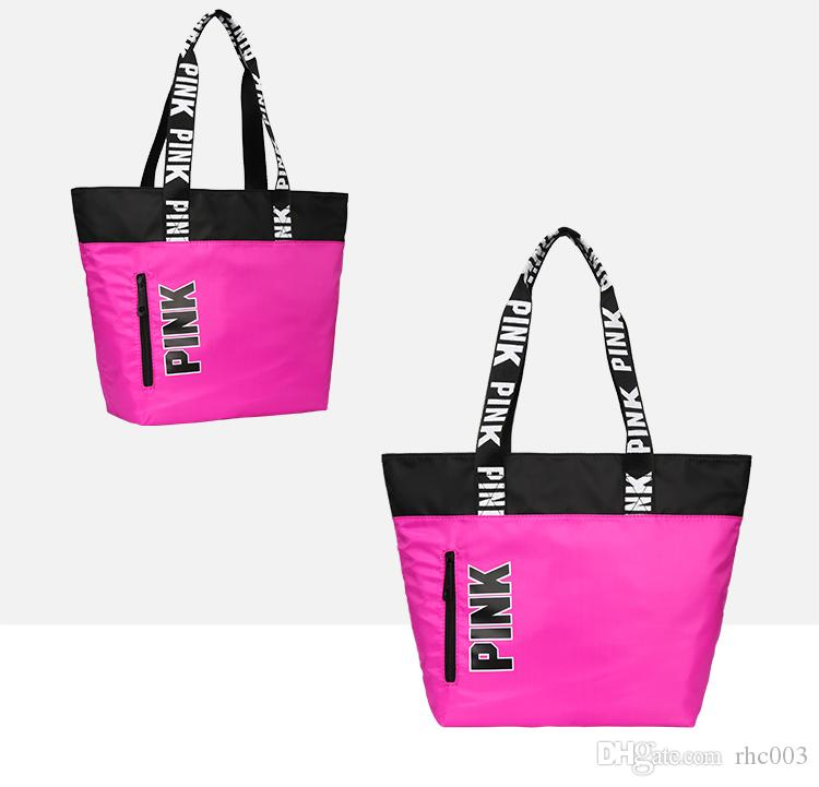Pink Handbags Shoulder Bags Women Love Handbags Large Capacity Travel  Duffle Striped Waterproof Shoulder Bag Drawstring Backpack Black Backpack  From Rhc003 fced2c8fee5d0