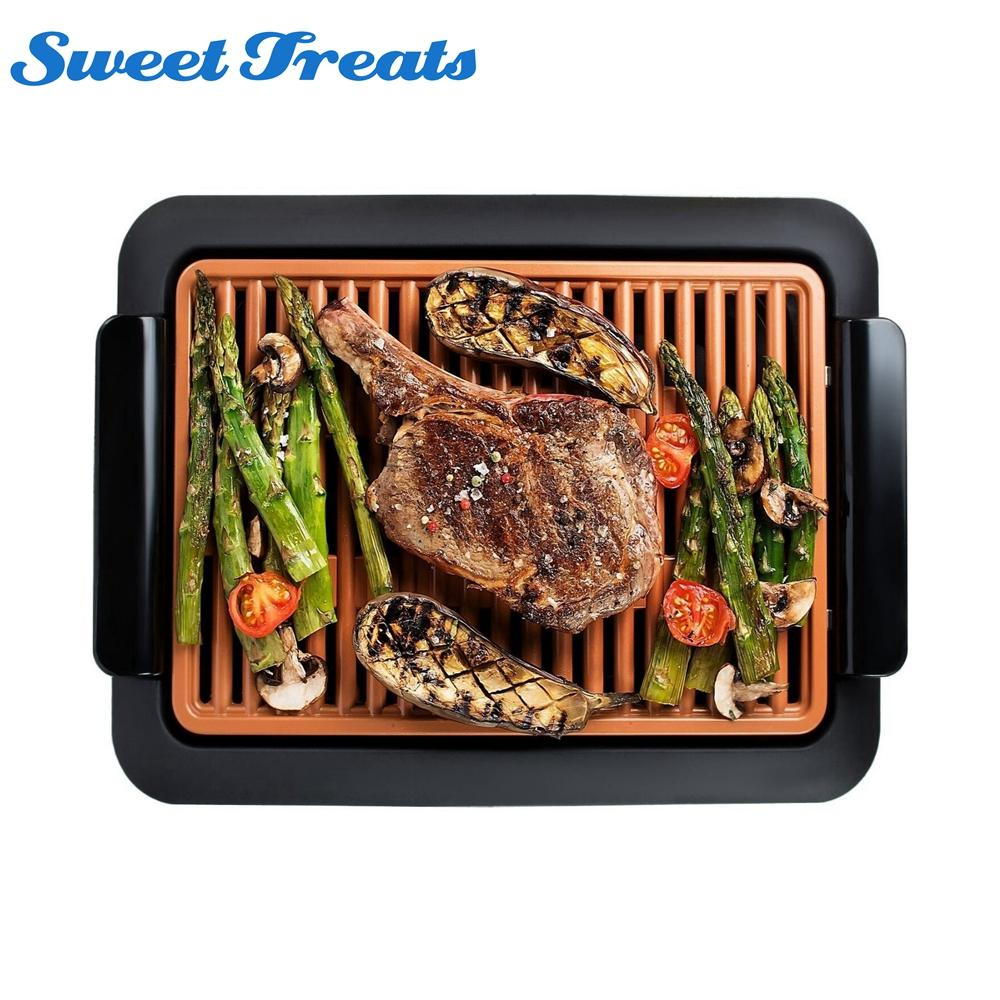 Sweettreats Smokeless Electric Grill And Griddle, Portable And Nonstick BBQ  Grills Cheap BBQ Grills Sweereats Smokeless Electric Grill And Online With  ...