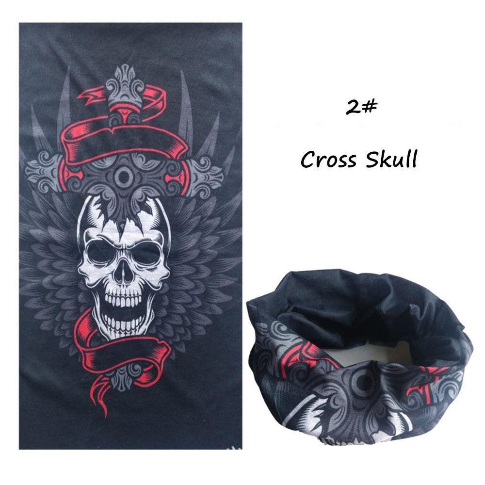 3b154b48c2f Halloween Head Scarf Skull Mouth Mask Biker Magic Turban Headband Veil  Kerchief