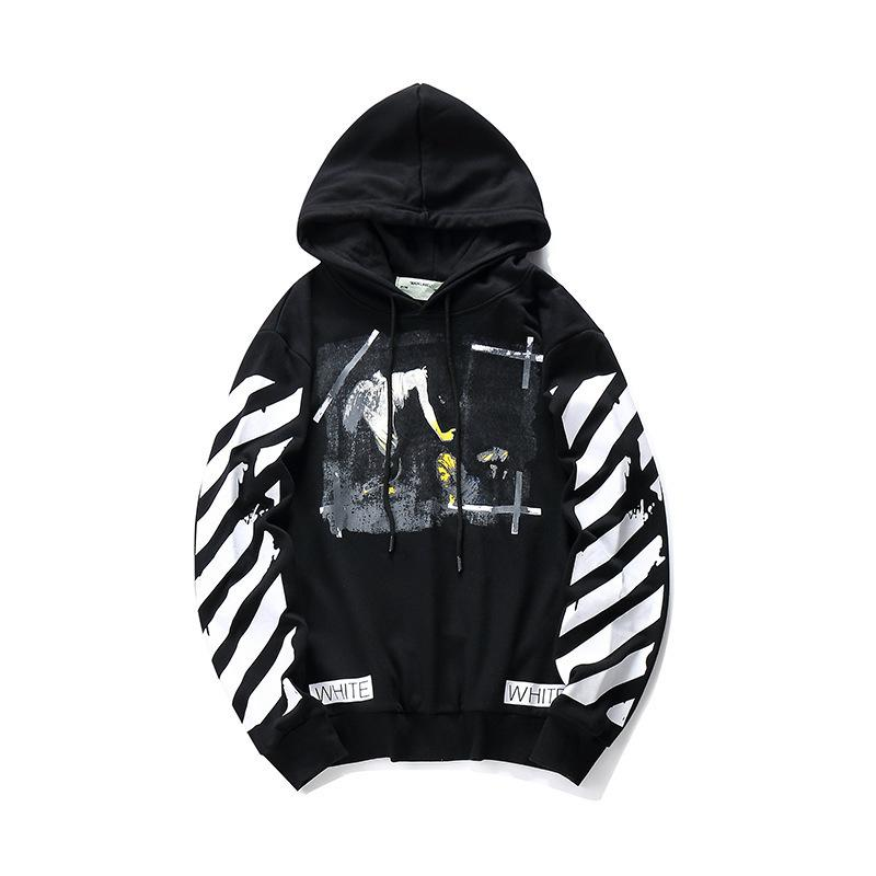 446141c6e Hoodies Sweatshirts For Men 2018 Autumn And Winter Hip-hop Stripe ...