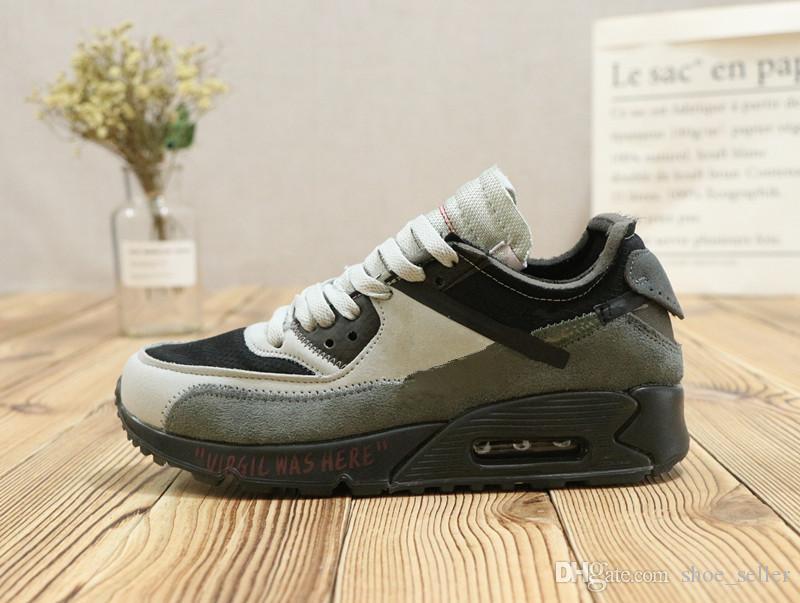 differently 56d8d c5294 Compre Nike Air Max 90 2019 Classic 90 Blanco ICE Azul Todo Negro Gris  Verde Zapatillas De Deporte Para La Venta Barata Hombres 90s Superior  Zapatillas De ...
