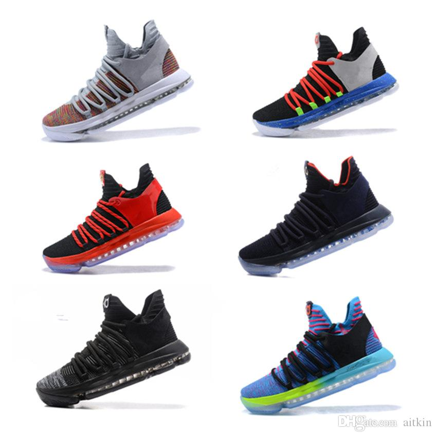 98908502b1f3 New 2018 KD 10 Kids Basketball Shoes Childrens Youth KD 10 X Sport Basketball  Sneakers Big Kids Athletic Shoes 40 46 White Running Shoes Latest Shoes For  ...