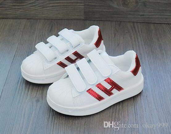 Fashion Baby Casual Shoes Shell Head Superstar Female Sneakers Kids  Zapatillas Deportivas Mujer Lovers Sapatos Running Shoes Youth Shoes Kids  Athletic Shoes ... 09108cb1e386