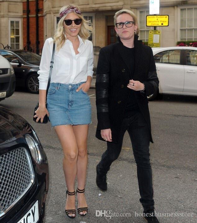 Acheter 2018 Denim Mini Femmes Poches Bouton Jupe Femelle D été De Mode  Taille Haute Jupes Lady Plus La Taille Des Filles Tout Jumelé Jeans Jupe De   17.39 ... 2abb1cc34d7