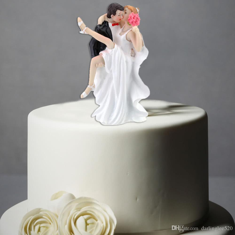 synthetic resin wedding cake topper bride groom tango kiss romantic wedding  party decoration adorable figurine craft gift high quality