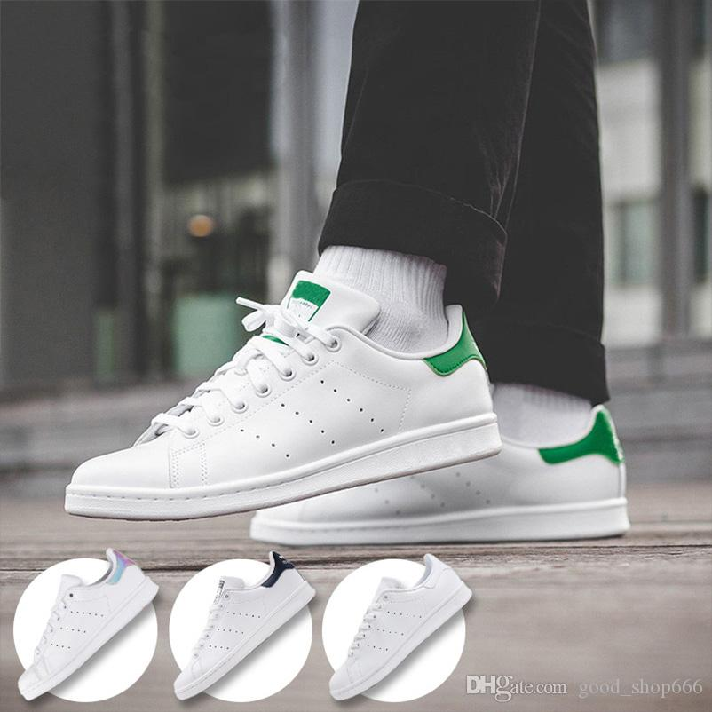 sale retailer b0f41 cc916 2018 Raf Simons Chaussures Stan Smith Spring Copper White Pink Black  Fashion Shoe Man Casual Leather brand woman man shoes Flats Sneakers