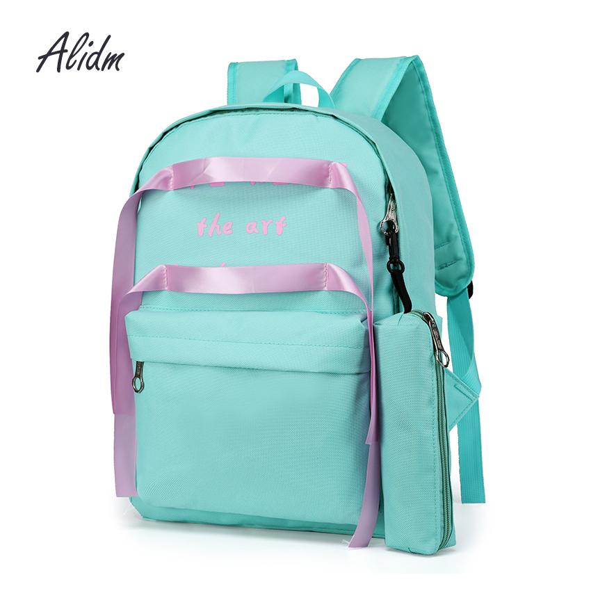 cf6f5745a1 Women Nylon Set Backpack Girl School Bags For Teenager Girls Student  Backpack Shoulder Bag Women Bag 2018 Feminina Cheap Handbags Burton  Rucksack From ...
