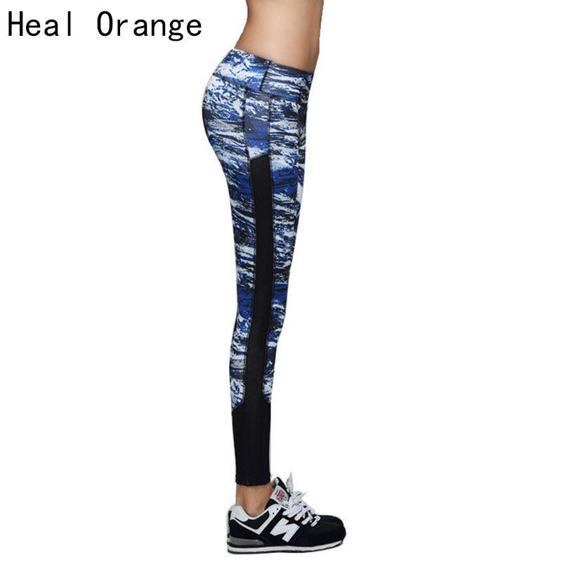 c5e0ab5f94f4b 2019 HEAL ORANGE Running Tights Womens Fitness Compression Running Pants  Yoga Pants Sports Pantalones Calzas Deportivas Mallas Mujer From Prescott