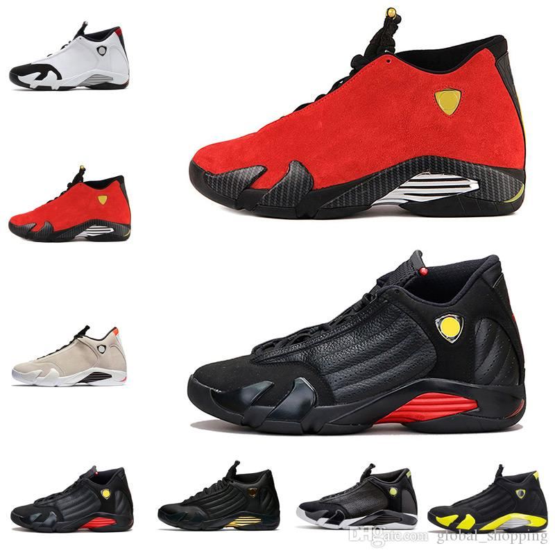 Cheap Basketball Shoes 14s XIV Sneakers Wholesale 14 Men Fusion Varsity Red  Suede Thunder Black Trainers Athletics Shoes 8 13 Mens Basketball Shoes Men  ... 8dedc3747688