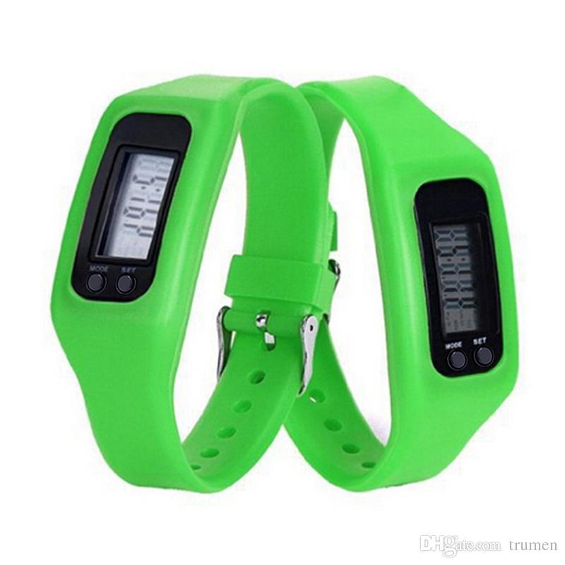 GlobalTop Dijital LCD Pedometre Akıllı Bant Run Adım Yürüyüş Mesafesi Kalori Sayacı İzle Bilezik Ücretsiz DHL