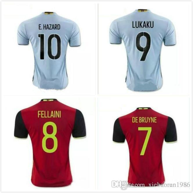 Belgium Jersey 2016 2017 Home Away Red LUKAKU HAZARD VERMAELEN ... ecfa9e1c7