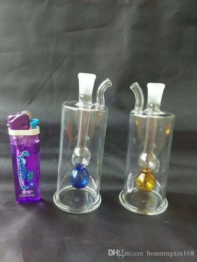 Gourde transparente de tabac à priser Gourde, Bongs de verre en gros Tuyaux de brûleur à l'huile