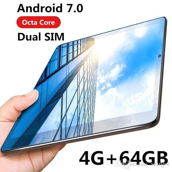 "10.1""""Inch Octa Core 4G+64G Android 7.0 WiFi Tablet PC Dual SIM Dual Camera Rear 8.0MP IPS Bluetooth MTK8752 3G WiFi Call Phone Tablet Gifts"