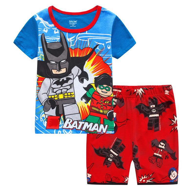 6582382d5b64f Children's Clothing Sets Summer Baby Girls pajamas Kids sleepwear short  sleeve t-shirts+shorts suits Boys Nightwear Homewear J68
