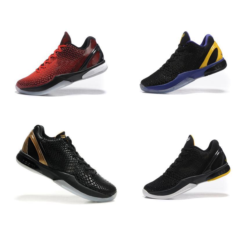 sports shoes a3515 e6efb Compre Zapatillas De Baloncesto Baratas De Kobe 6 VI Para Hombre A La Venta.  Zapatillas De Deporte De Corte Bajo En Color Negro, Rojo, Violeta, Púrpura,  ...