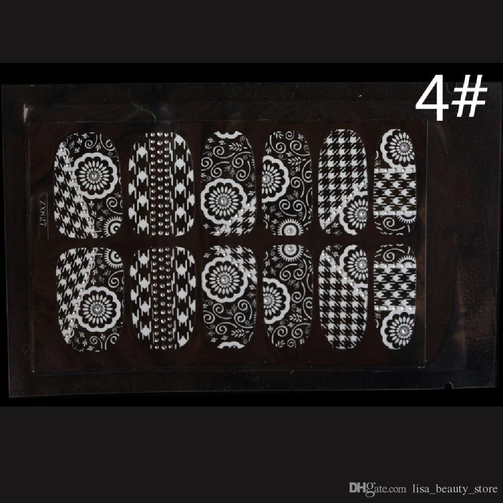 12 longue usure enveloppes dentelle blanche série transparente autocollants ongles autocollants feuilles de faux faux ongles conseils fausse décoration pas bavures bricolage