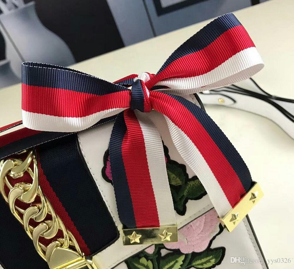 Édition limitée trompette sac 18 nouvelles dames épaule sac à main diagonale bow chaîne décoration décoration mode sauvage Sevier