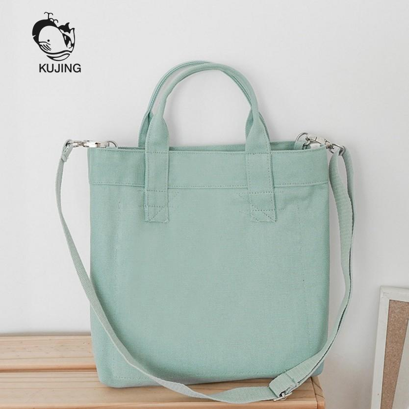4d568f7fed KUJING Women Handbag High-quality Solid Color Youth Canvas Bag Women Travel  Leisure Shoulder Messenger Bag Hot Fashion Top-Handle Bags Cheap Top-Handle  Bags ...