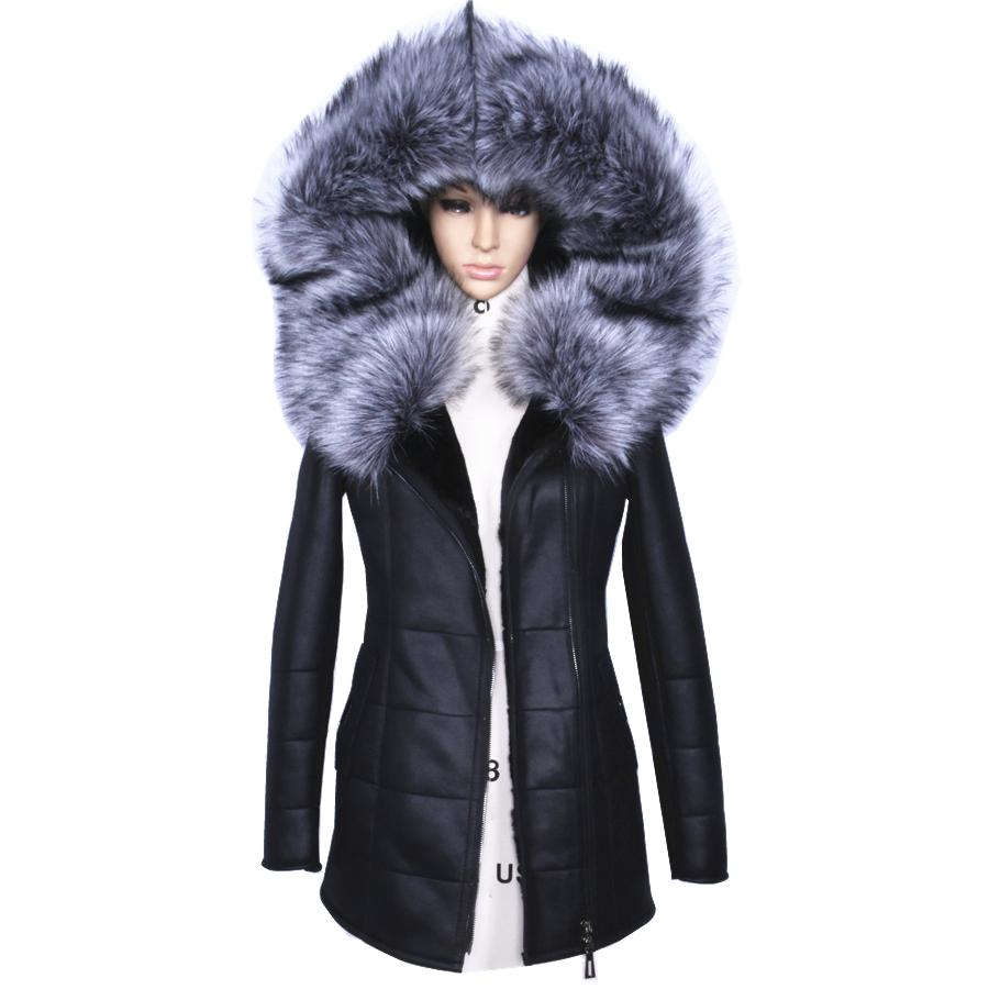 Wholesale Factory Direct Supplier Winter Jacket Women Coats Thick  Artificial Fashion Slim Suede Female Models Leather Fox Fur Collar H1z1 UK  2019 From ... ed7187802