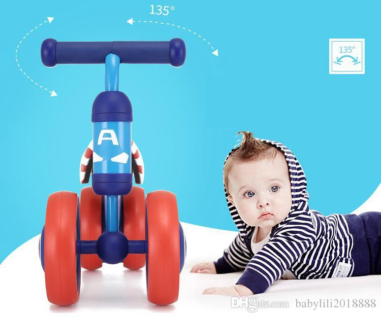 wholesales Children's Bicycle Kids Balance Bike Ride On Toys For Kids Four Wheels Child Bicycle Carbon Steel Bike For Children 1-2 Years