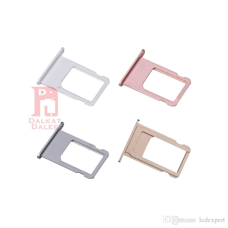 For iPhone 5 5s 5c 5SE 6 6plus 6S 6s Plus 7 7 PLUS SIM Card Tray Holder Slot Replacement Spare Repair Parts