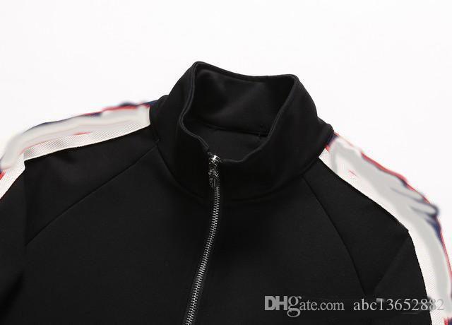17 18 Tasarımcı Markalar Best Edition Sonbahar Kış erkek Giyim Kırmızı Yeşil Şerit Spor Seti Yazı Baskı Fermuarlı Sweatshirt Ceket.