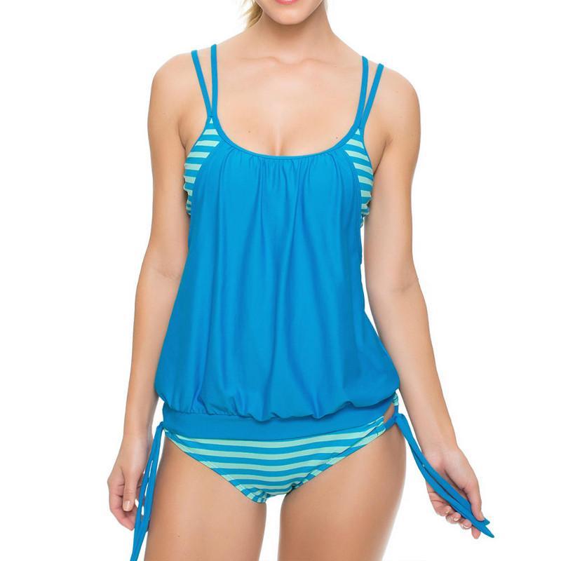 5c6c6d28641df 2019 Maternity Swimsuit Womens Bathing Suit Plus Size Women Swimwear  Pregnancy Striped Tankinis Set Summer Pregnant Sling Bikinis Set Clothes  From Yuan0907, ...