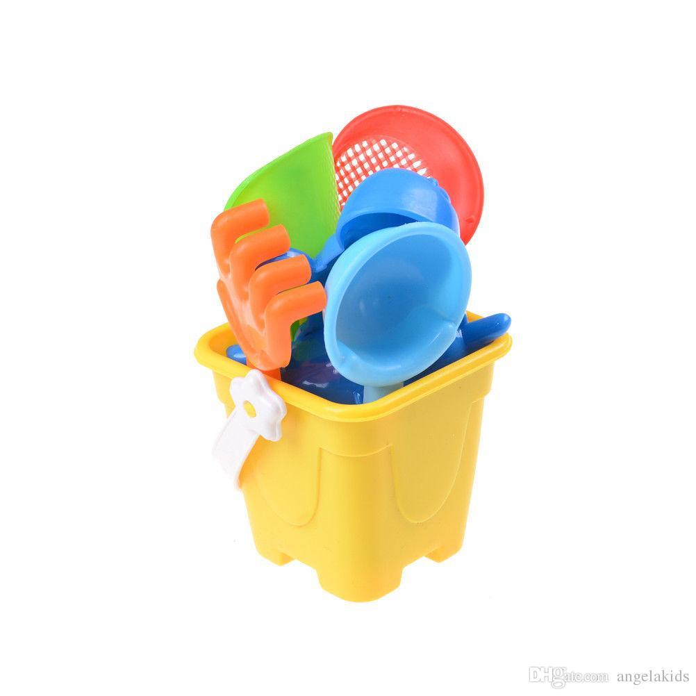 Beach toys Sand Toys Sand Water Beach Play Toys Set Kids Seaside Bucket Shovel Rake Kit Newest