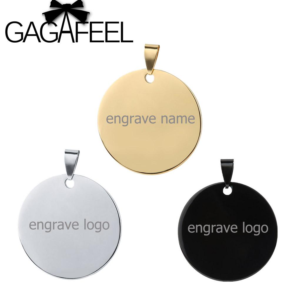 wholesale gagafeel personalized engraved name stainless steel round