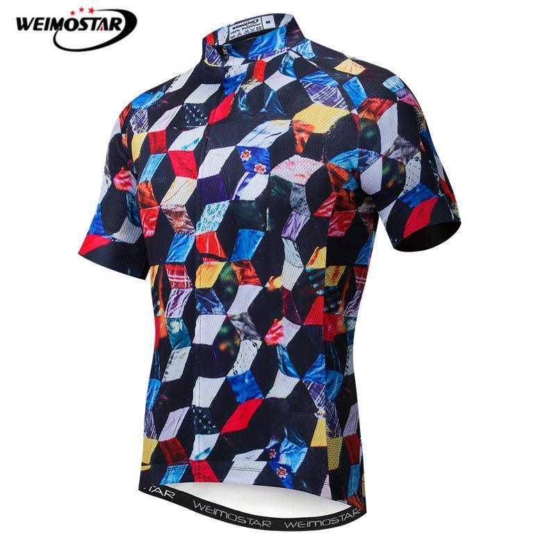 52bdf34c2 Weimostar Bike Team Racing Cycling Jersey Men Summer Short Sleeve Mountain Bike  Shirt Quick Dry MTB Bicycle Jersey Cycle Wear Shirts For Men Plaid Shirts  ...