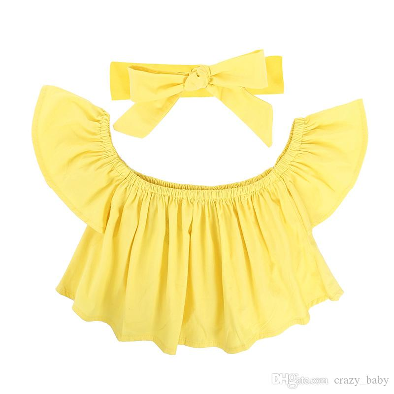 Toddler Baby Girls Chest T-shirt Top Hole short Pants Kids Outfits Clothes Set