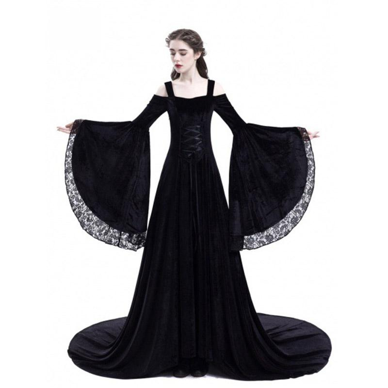 2019 New Medieval Costumes For Women Princess Dress 2018 Plus Size ...