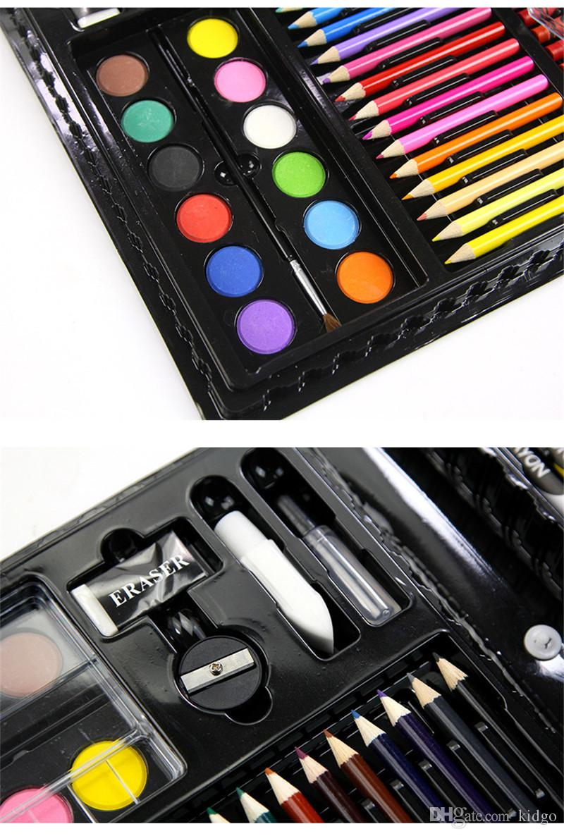 / sets of Children's Painting Stationery Set Watercolor Pen Gift Box art Brush Supplies Retail Wholesale DHL K0139