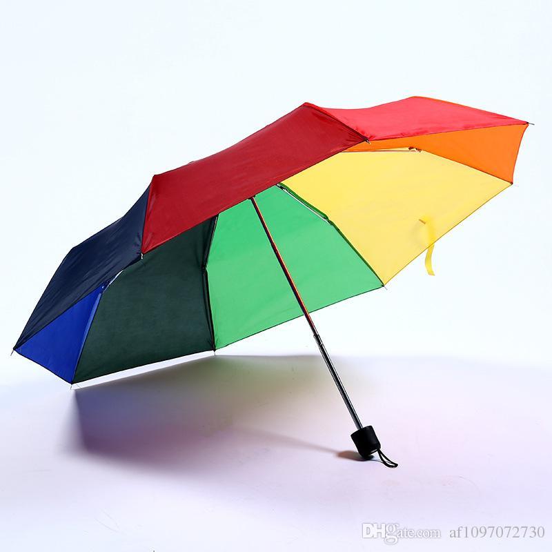 038c5099b1ff Custom Rainbow Umbrella Explosion Creative Outdoor Couple Gift Umbrella Sun  Protection Advertising Umbrella Custom Logo and Colors RE4378