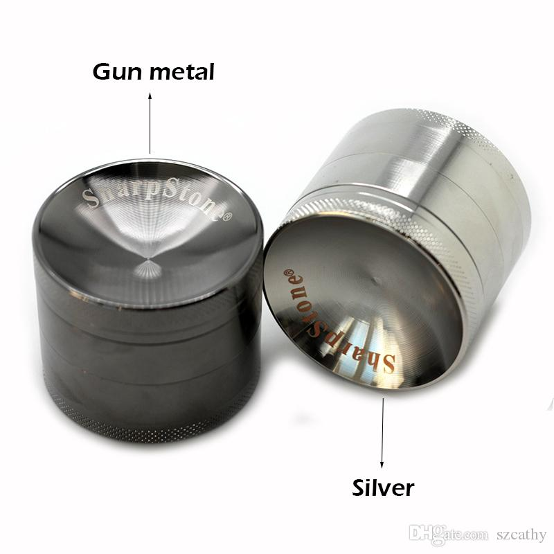 Concave Grinders Herb Spice Crusher 40mm 50mm 55mm 63mm Metal Grinder 4 Parts Zinc Alloy Material OEM Welcome